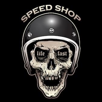 Schädel biker design