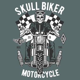 Schädel-biker