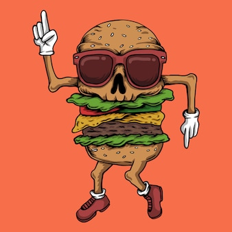 Schädel-burger-tanz