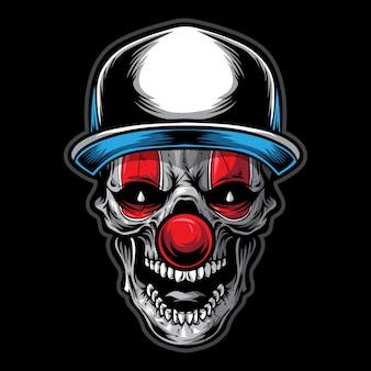 Schädel clown illustration