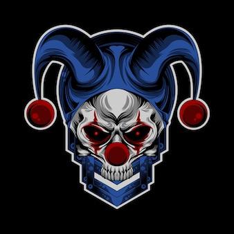 Schädel-clown-logo
