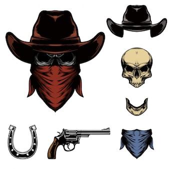 Schädel cowboy