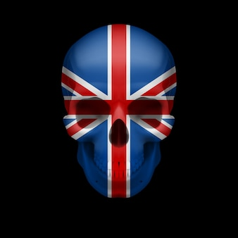 Schädel der britischen flagge