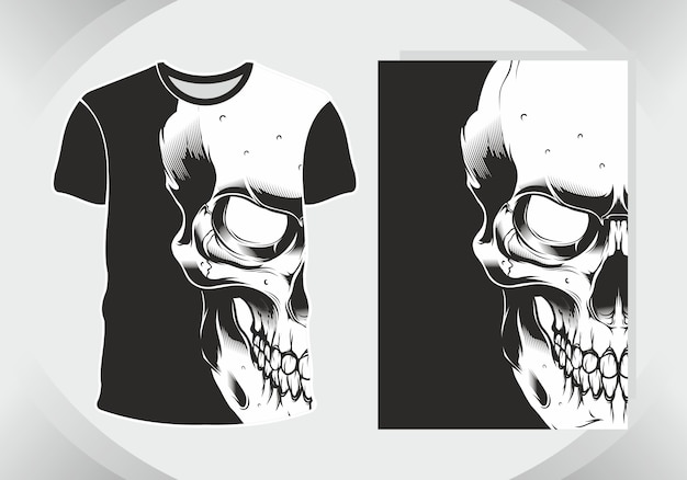 Schädel für illustration und t-shirt