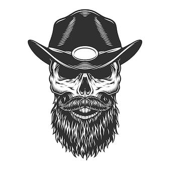 Schädel in der sheriff-mütze