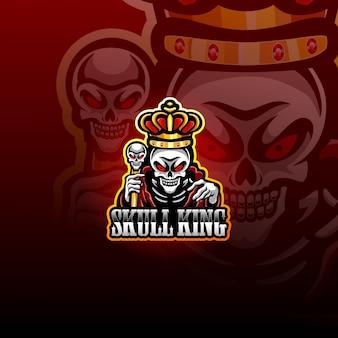 Schädel könig esport maskottchen logo