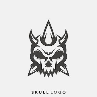 Schädel-logo-design