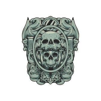 Schädel-logo-vektor