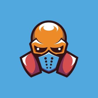 Schädel mask maskottchen