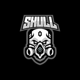 Schädel maskottchen logo design
