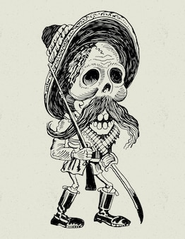 Schädel mexikanischer revolutionär