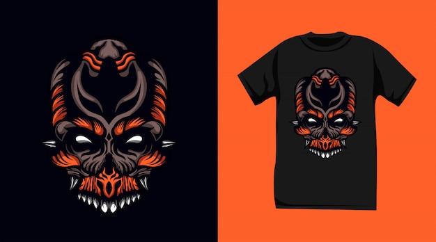Schädel monster t-shirt design