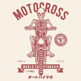 Schädel-motocross