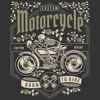 Schädel-motorrad