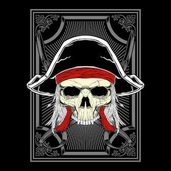 Schädel pirat