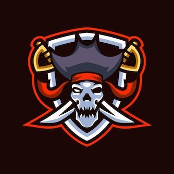 Schädel piraten esports logo