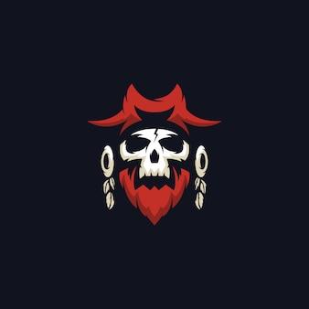 Schädel-piraten-logo