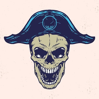 Schädel-piraten-vektorillustration