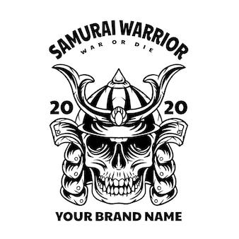 Schädel samurai krieger