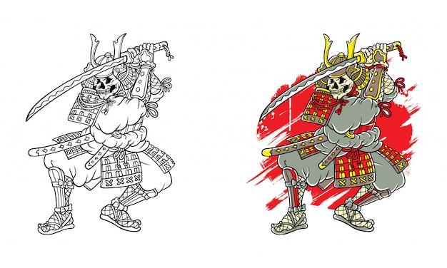Schädel samurai