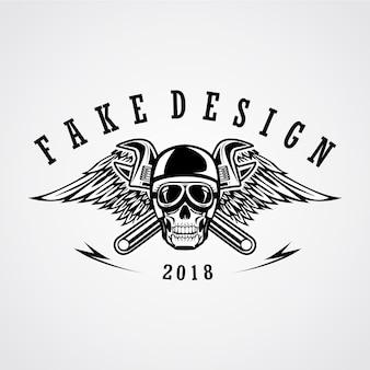 Schädel straße patch design