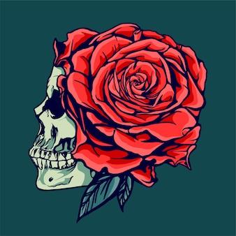 Schädel und rose