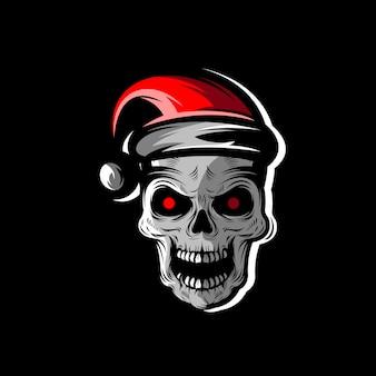Schädel weihnachten illustration