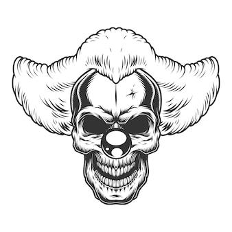 Schädel wütender clown