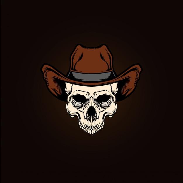 Schädelkopf cowboy