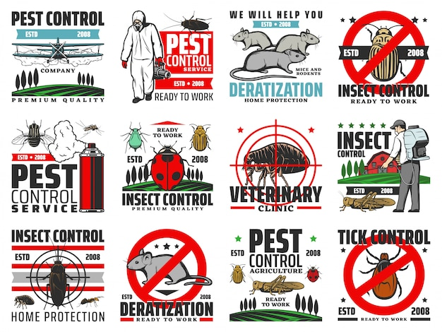 Schädlingsbekämpfung, deratisierung, ausrottung von insekten
