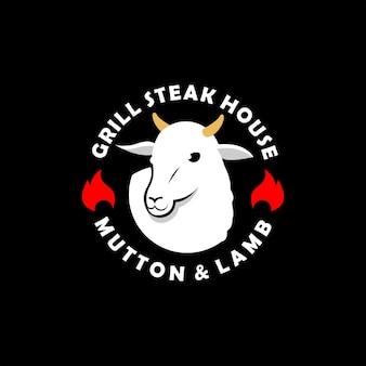 Schaf logo hammelfleisch lammfleisch vektor
