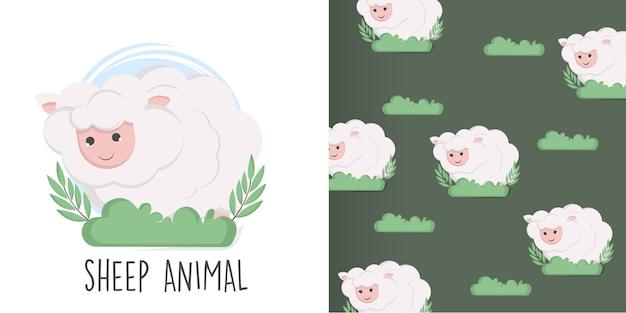 Schaf nahtlose muster