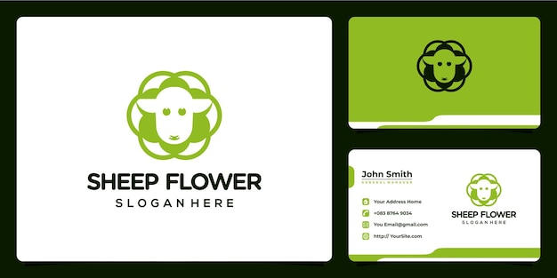 Schafblume kombiniert logodesign und visitenkarte