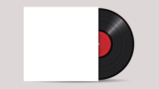 Schallplatte mit cover mockup