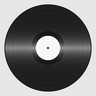 Schallplatte. retro-tonträger. platte für dj-scratch. vektor-illustration.