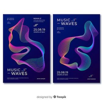 Schallwelle musik plakat vorlage