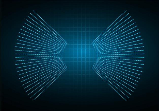 Schallwellen, die dunkelblauen hellen hintergrund oszillieren