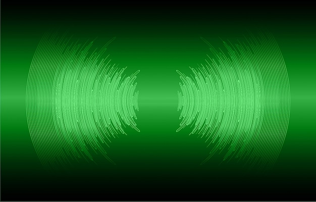 Schallwellen, die dunkelgrünes licht oszillieren