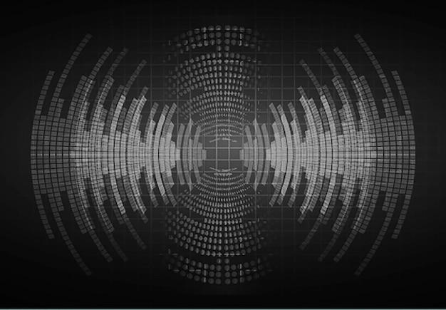 Schallwellen, die dunkelschwarzes licht oszillieren