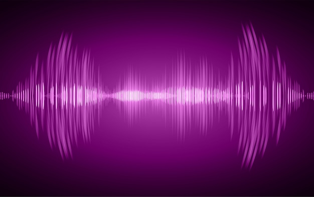 Schallwellen oszillieren dunkelviolettes licht
