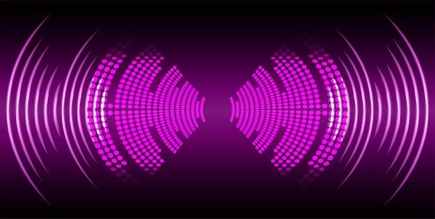 Schallwellen oszillierendes dunkles licht