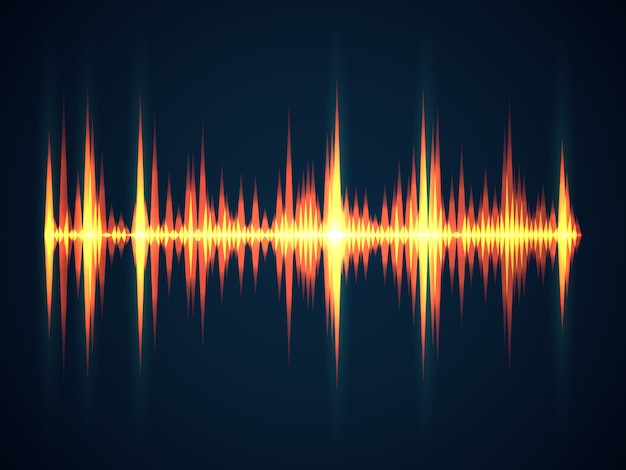 Schallwellenhintergrund. musik sound digital equalizer wireframe elektrizität technologische wellen für studio digitale frequenzkonzept
