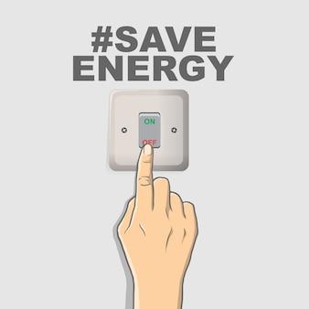 Schalten sie die energie aus