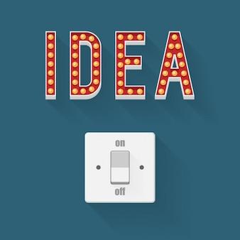 Schalter für ideen