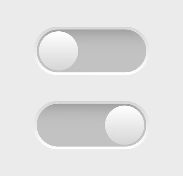 Schalter-symbole umschalten. elemente des webdesigns. sammlung von ein-aus-tasten.