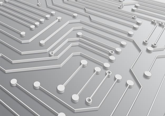 Schaltungstechnik-hintergrund mit high-tech-digital-datenverbindungssystem und computerelektronik-design