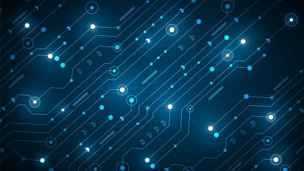 Schaltungstechnik mit digitalem high-tech-datenverbindungssystem und computerelektronik