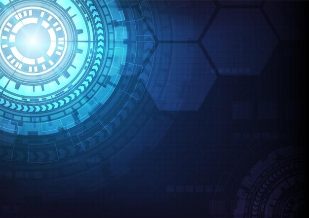 Schaltungstechnischer hintergrund mit digitalem high-tech-datenverbindungssystem und elektronischem computerdesign