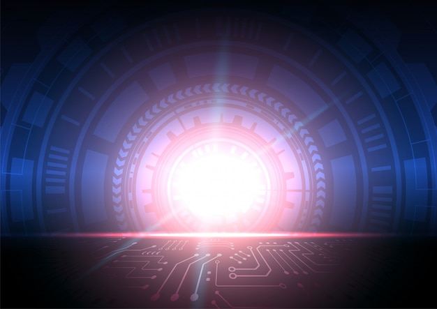 Schaltungstechnischer hintergrund mit digitalen high-tech-daten