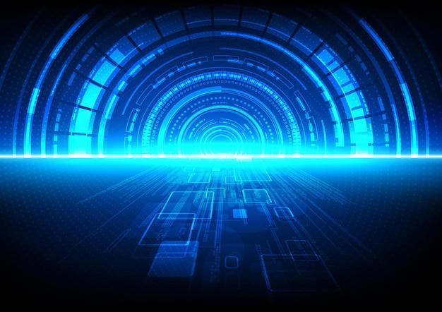 Schaltungstechnischer hintergrund mit high-tech-digital